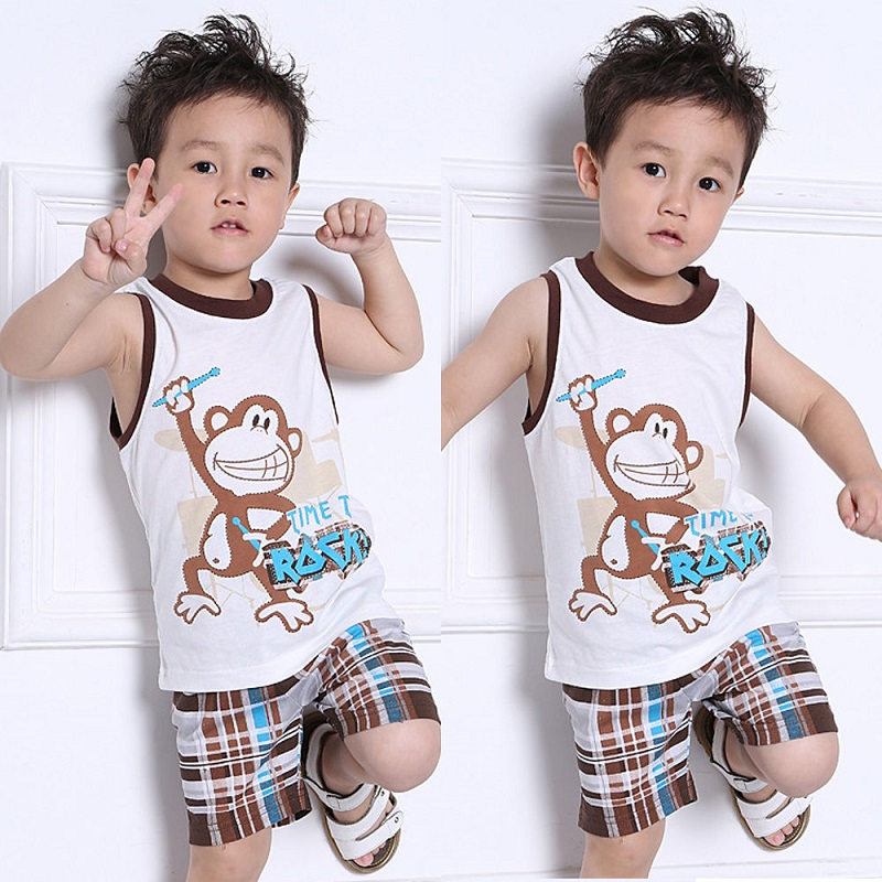 Toddler Clothing Kids Baby Boys Summer Outfits T-shirt Tops+Pants Clothes Set 2PCS Outfit hot sale 2016 kids boys girls summer tops baby t shirts fashion leaf print sleeveless kniting tee baby clothes children t shirt