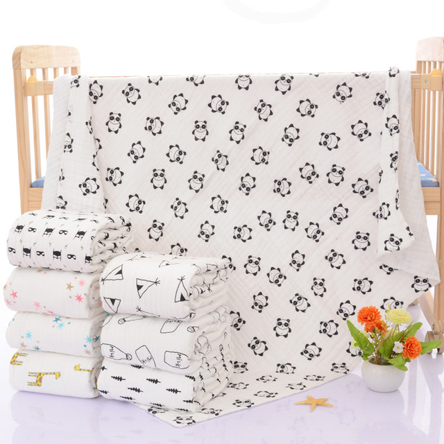 Niños muselina manta grande 120*120 recién nacido asiento cubierta ...