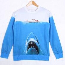 Animal series 3d Sweatshirts men 2016  3D Sharks elephants Sweatshirt male Autumn Long Sleeve Hoodie fashion Print Sweatshirt