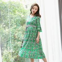 New 2018 Floral Printing Maternity Party Dress Ruffle Sleeve V Neck Summer Pregnancy Dresses Clothes for pregnant Women Dress