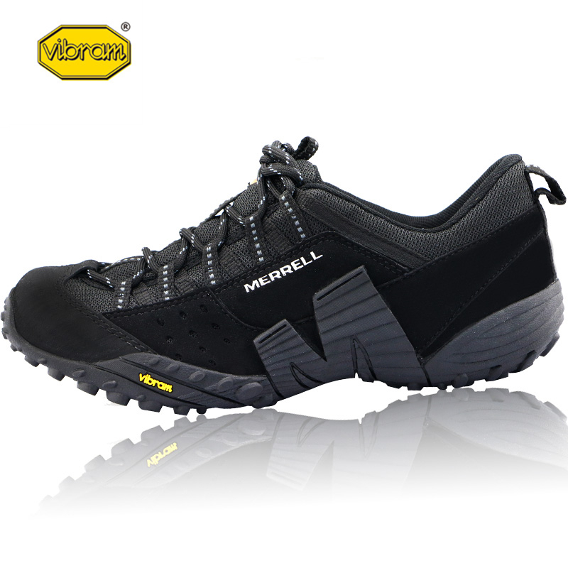 Vibram Genuine Leather Outdoor Sport Hiking Shoes Men's Mesh Breathable Durable Mountain Non slip Climbing Sneakers for Man|Hiking Shoes| |  - title=