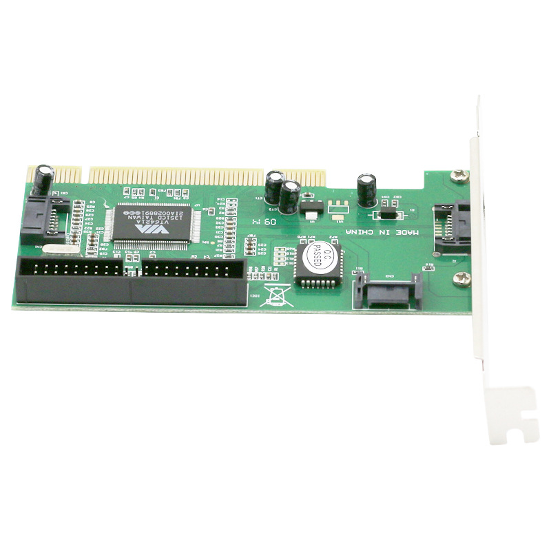 High Quality Chip New 3 ports SATA + IDE Serial HDD ATA PCI Card Converter Adapter For PC Tablet Computer 1.5Gb/s Data Rate Pakistan