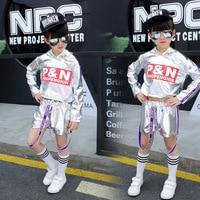 Children's Street Dance Set Short Sleeved Girl Jazz Dance Costume Hip Hop Performance Clothes Children's Street Dance Clothing