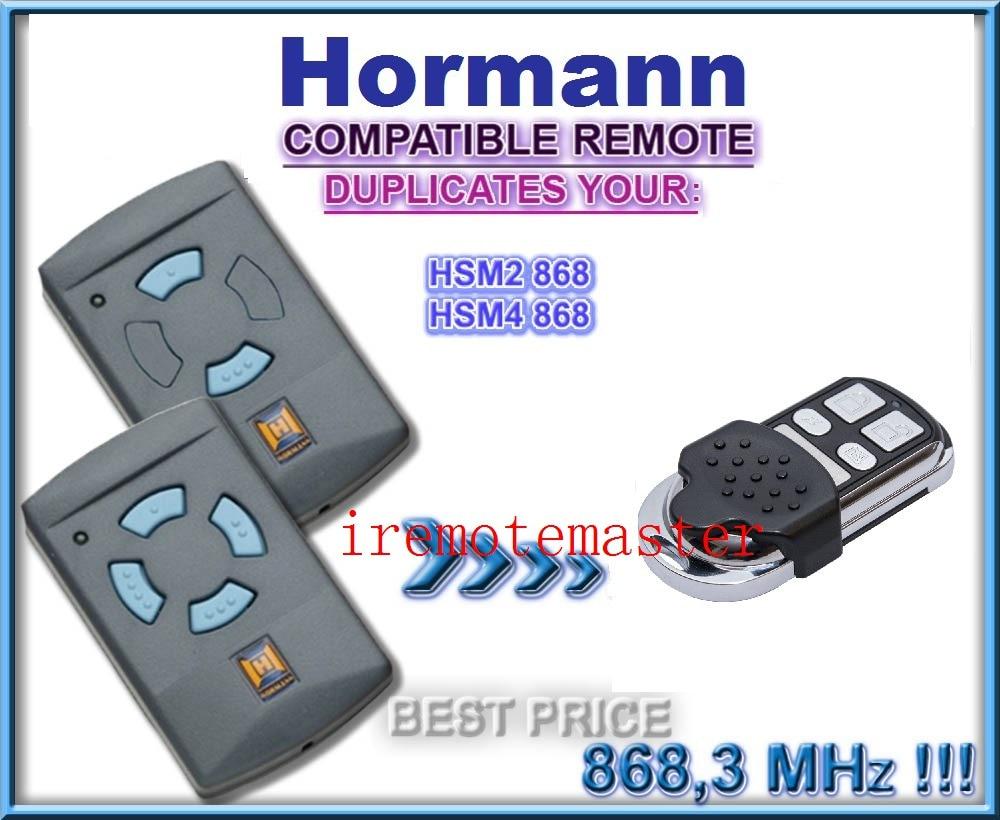 Hormann HSM2, HSM4 868Mhz (Blue Buttons) Remote Control Replacement/DuplicatorHormann HSM2, HSM4 868Mhz (Blue Buttons) Remote Control Replacement/Duplicator