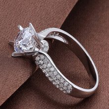 hot deal buy 925 sterling silver plated gold cz diamond ring luxury senior jewelry bright star cz diamond wedding ring wedding ring nude girl