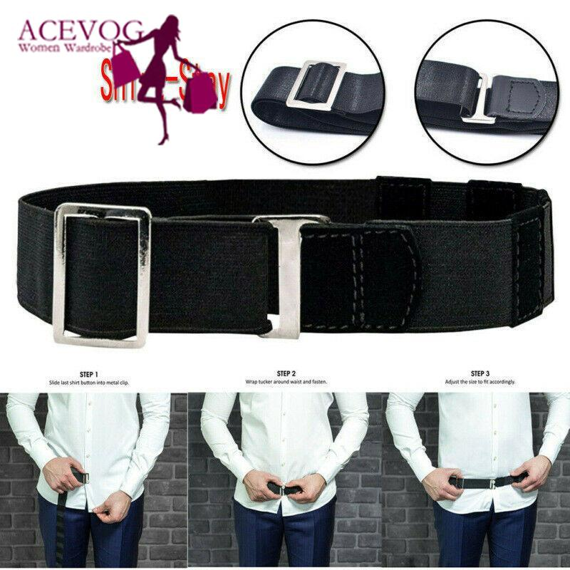 Unisex Adjustable Near Shirt Belt Elastic Shirt Casual Holder Belt Common Type, Upgrade Type, Square Type