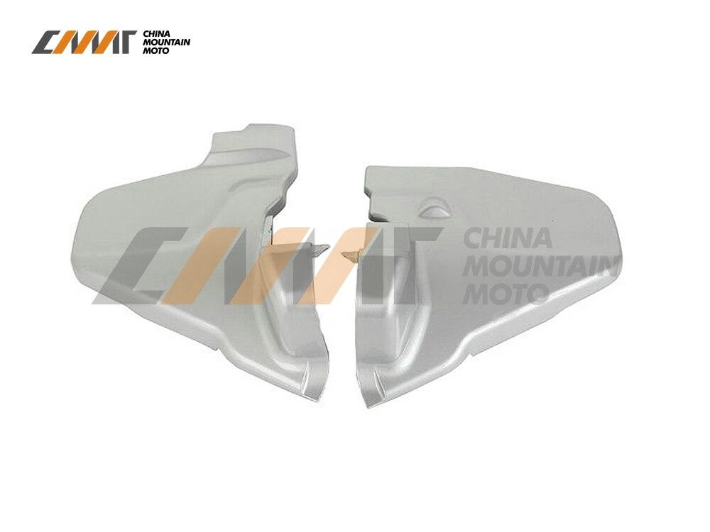 L&R Gray Engine Transmission Covers case for Honda Goldwing GL1800 2012-2015 13 14 l r pillion foot peg for honda c70 ct90 cb125 cb200 cg110 cg125 jx110 jx125 xl250 xl350