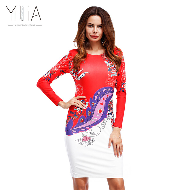 922945ea164d3 Yilia Dashiki Dress 2017 Summer Sexy African Print Shirt Dress Femme Vintage  Mini Hippie Boho Women Casual Long Sleeve O Neck
