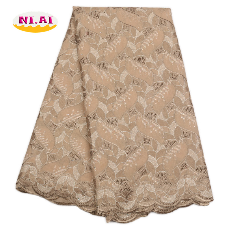 Woman African Lace Gold Guipure Lace Fabric 2018 Polish Cotton Lace Fabric MR1728B