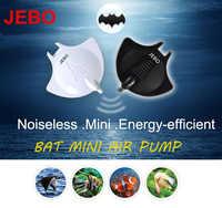 JEBO Bat Mini Air Pump Black/White Nano Hang On Quiet Silent With Air Tube Air Stone Aquarium Fish Water Plant Tank Q2210