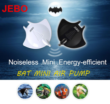 JEBO Bat Mini Air Pump Black/White Nano Hang On Quiet Silent With Air Tube Air Stone Aquarium Fish Water Plant Tank Q2210