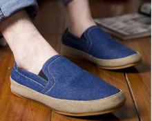 New spring 2016 single shoes cloth shoes men's denim shoes recreational canvas shoes breathable sandals fashion students