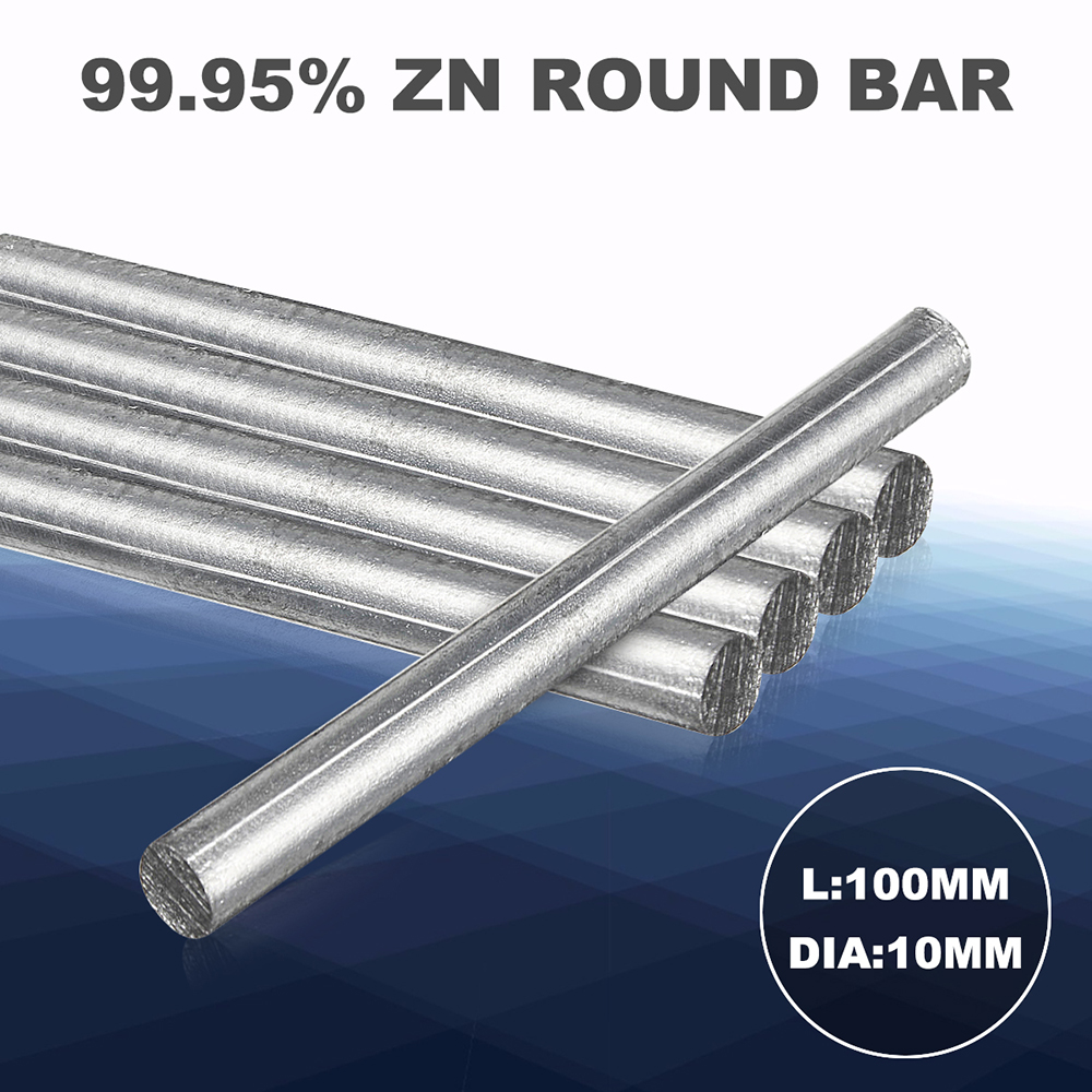 1pc Pure Zn Rods 99.95% High Purity Zinc Solid Round Bar 0.4