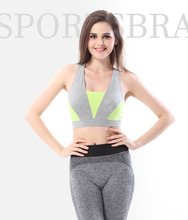 Breathable Yoga Shirt Women Sports Bra top Fitness Tank Top GYM Thin Full Cup Padded inserts Wire free training Bra Sport Bras