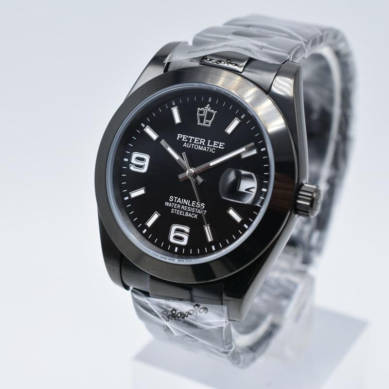 HTB1Ya91aeuSBuNjSsziq6zq8pXac Silver Watch | Fashion PETER LEE Nautilus | Brand Luxury Full Steel Bracelet Waterproof Automatic Mechanical Business Clocks Classic Dial 38mm Mens Watch