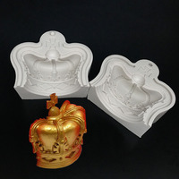 The latest research and development of extravagance and noble crown molding silicone mold fondant cake decoration mold