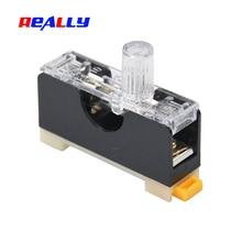 Fuse-Holder Glass Fuse-Casing 6x30mm Din FS-101 REALLY Rail-Mount Single-Pole