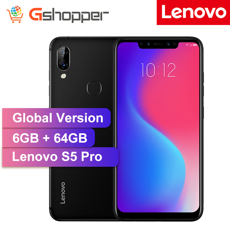 Global Version Lenovo S5 Pro 6GB 64GB Snapdragon 636 Octa Core Mobile Phone 20MP Four cams