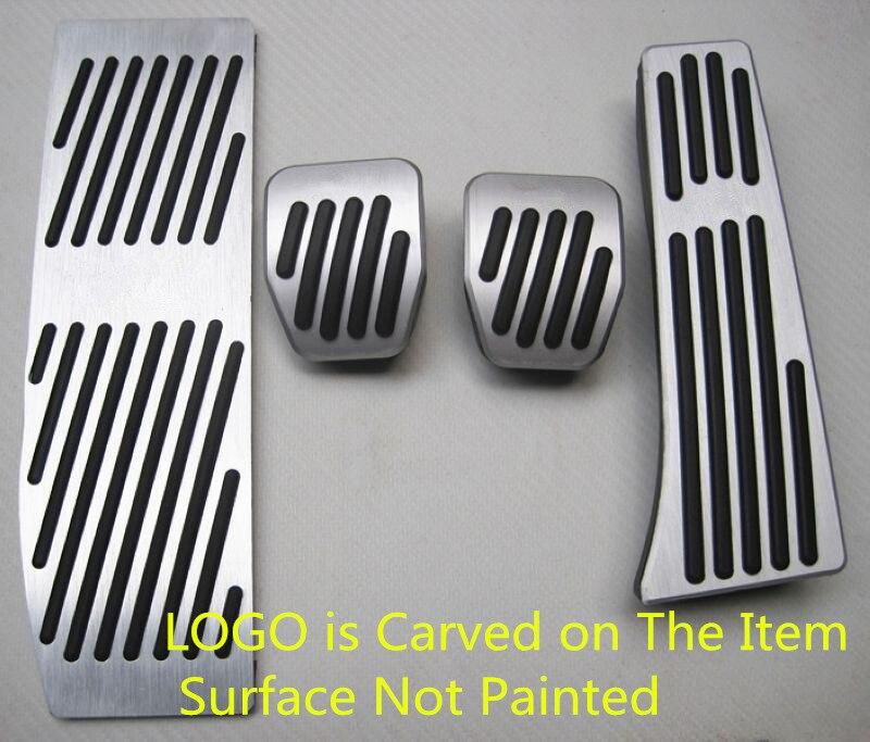 XYIVYG NO Need to Drill Any Holes Aluminum Foot Rest Pedals Set Fit for BMW E30 E36 E46 E87 E90 E91 E92 E93 M3 M Tech MT Silver
