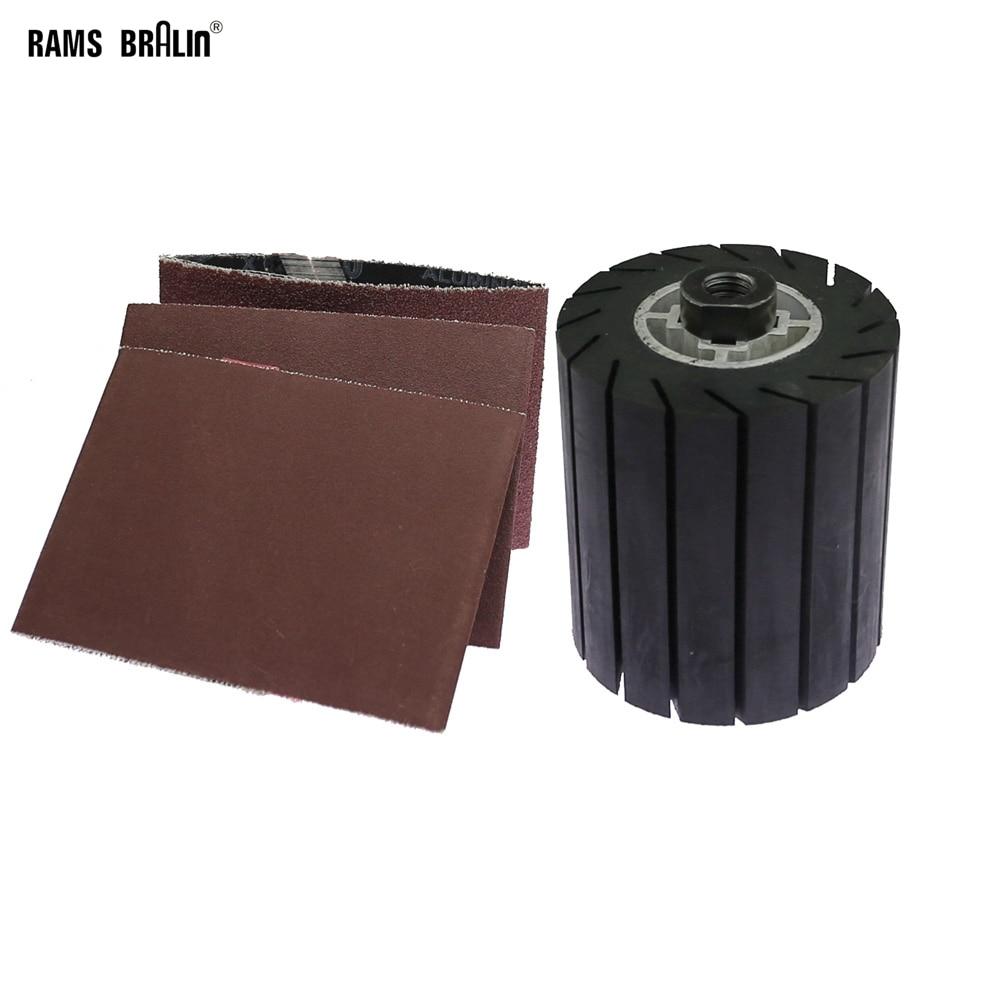 Angle Grinder Drum Rubber Polishing Wheel 3 In 1 Set Expander Wheel Sanding Belts
