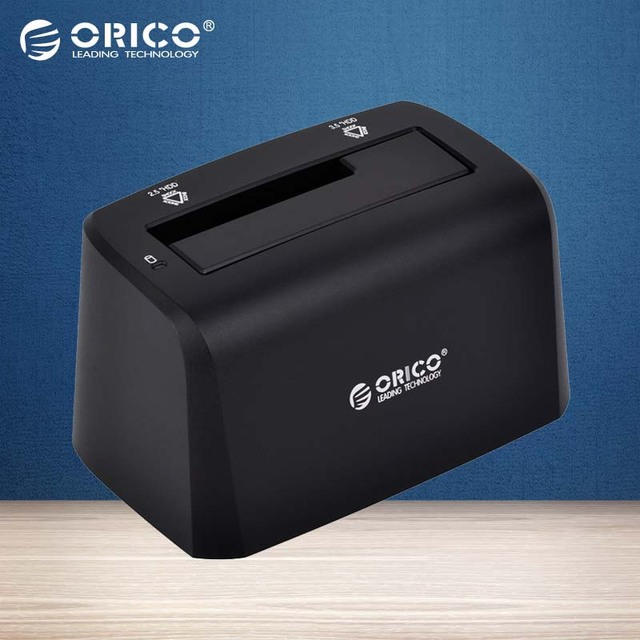 ORICO 8619US3 USB 3.0 6 TB Sata 2.5 ''/3.5'' Hdd Docking Station-Negro (sin incluir HDD)
