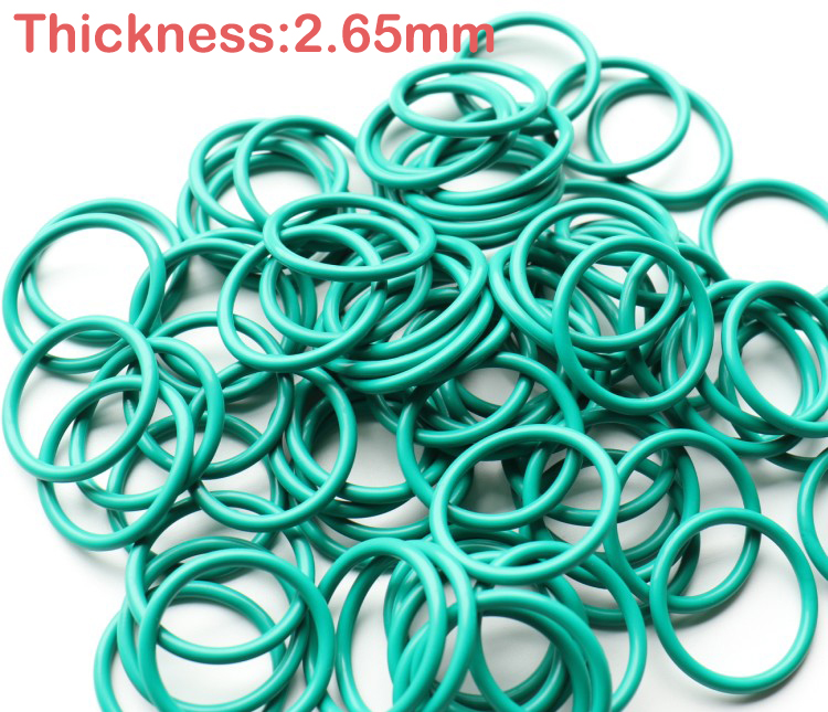 50pcs 7.6x2.65 7.6*2.65 8x2.65 8*2.65 8.5x2.65 8.5*2.65 ID*Thickness Green Viton FKM Fluorine Rubber O Ring O-Ring Seal Gasket
