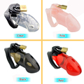 Prison Bird Male Chastity Device,Cock Cages,Men's Virginity Lock with 3 Size Penis Ring,Penis Lock,Cock Ring,Chastity Belt,A163