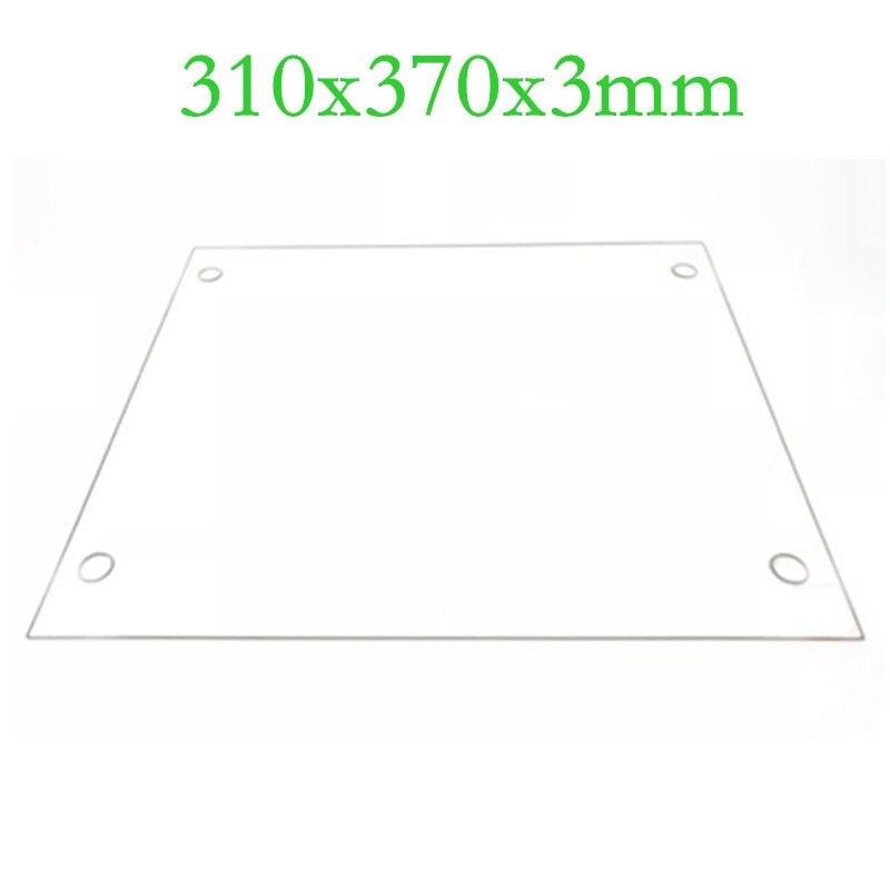 3d принтер s части 310x370x3 мм боросиликатная стеклянная пластина плоская w/винтовые отверстия полированный край для DIY Tevo Tornado 3d принтер