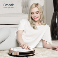 Fmart Mini Robot Vacuum Cleaner Battery Dry Wet Sweeping Mop For Home Appliances Dust Cleaners 3
