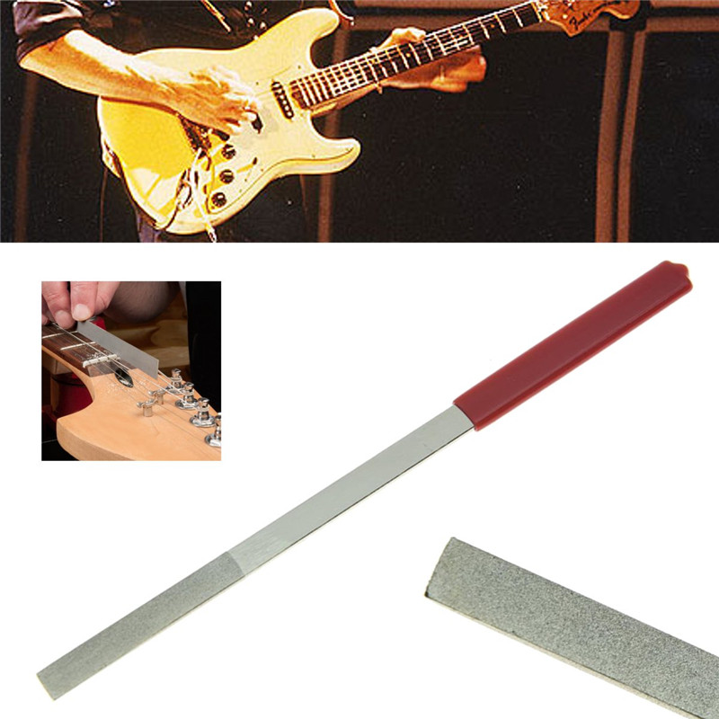 Zebra Guitar Bass Luthier Tools 320# Mesh Nut File Saddle Slot Fret Repairing Tool For Stringed Instruments Parts Accessories