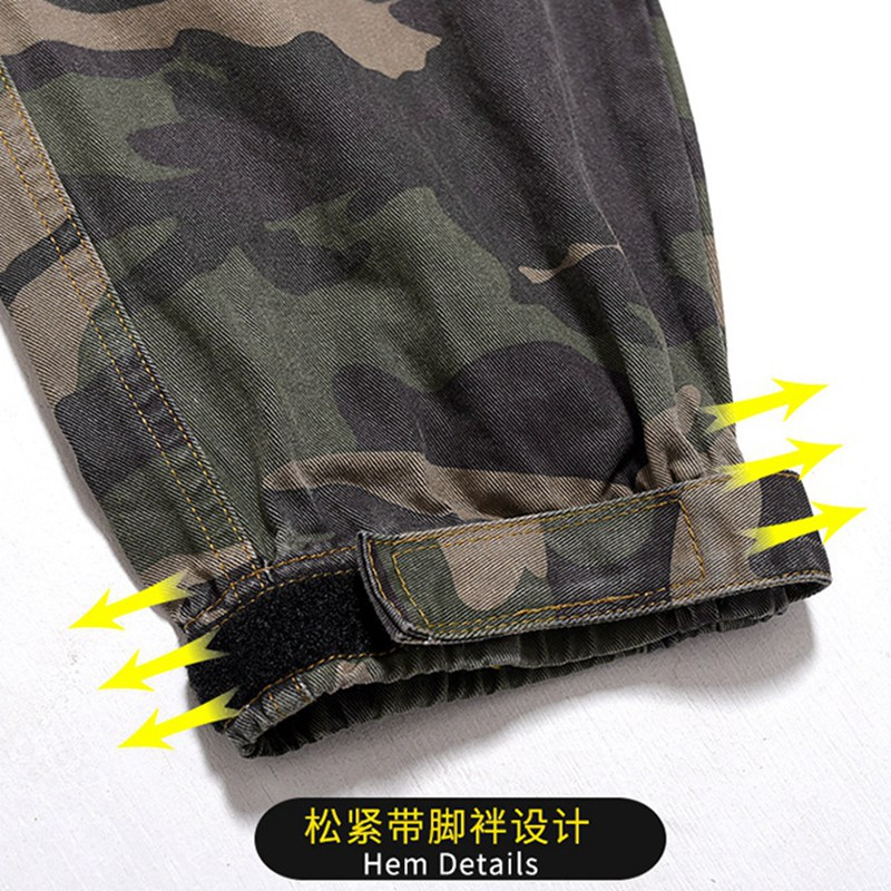 Image 5 - spring men cargo Camouflage pants pockets high streetwear plus 