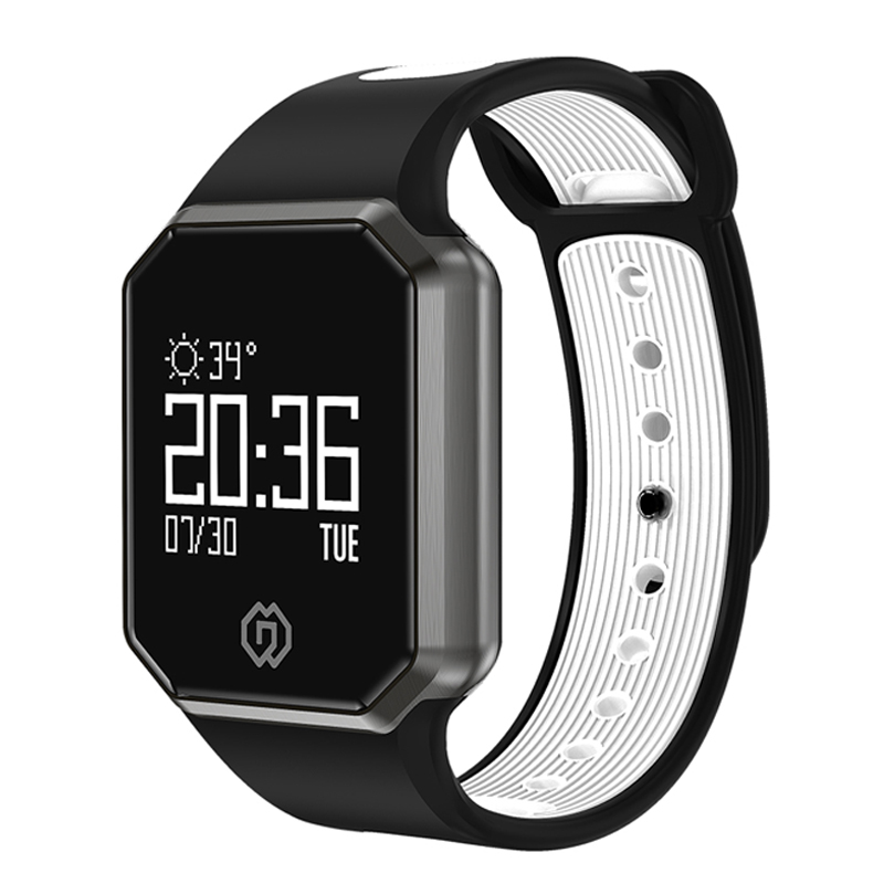 2018 New QW11 Bluetooth Smart Bracelet Fitness Tracker Heart Rate Blood pressure Monitor Sports Smart Wristband Waterproof Band