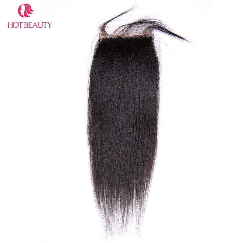 Гарячі волосся закриття перуанських - Людське волосся (чорне) - фото 4