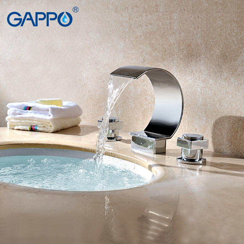 GAPPO Basin Faucet basin mixer tap waterfall bathroom mixer shower faucets bath water Deck Mounted Faucets taps gappo basin faucet basin tap waterfall bathroom mixer shower faucets bath water mixer deck mounted faucets taps