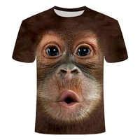 2019 camisetas de hombre 3D estampado Animal mono Camiseta de manga corta diseño divertido Casual Camisetas Hombre Halloween camiseta camisa 6xl