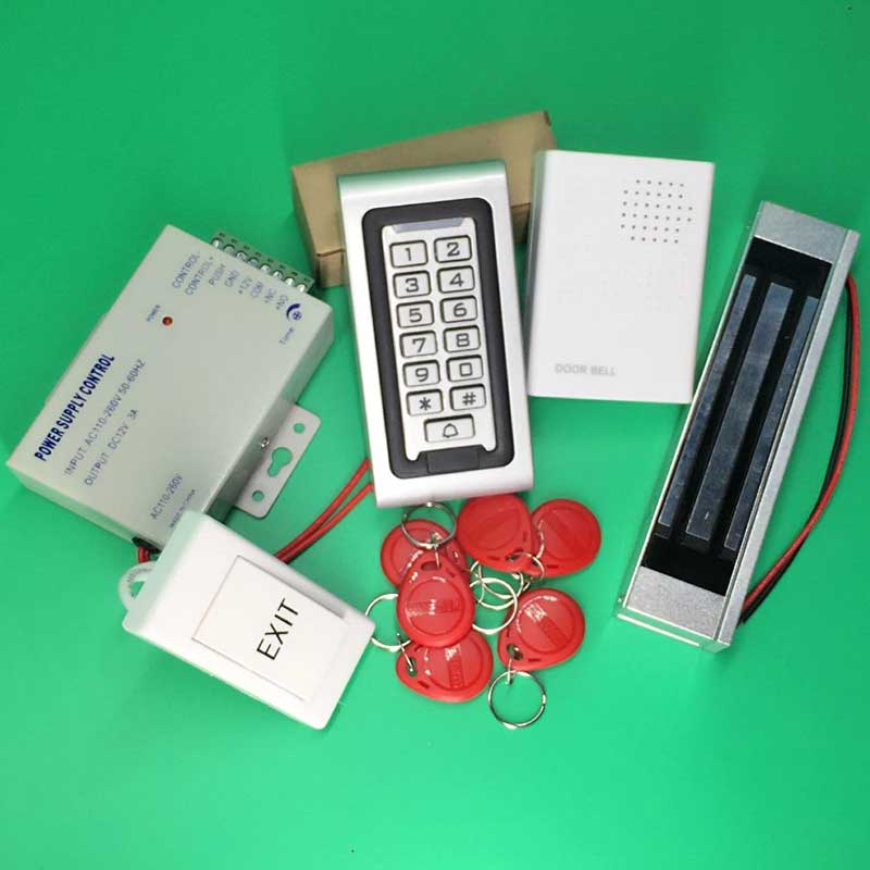 Waterproof Access Control System Keypad Rfid Access Controller with 600LBS Electric Magnetic Lock Door Access Control System metal rfid em card reader ip68 waterproof metal standalone door lock access control system with keypad 2000 card users capacity