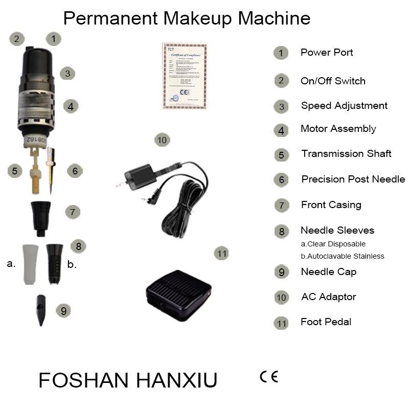 Gratis frakt tattoo maskin kit med mosaikk permanent sminke - Tatovering og kroppskunst - Bilde 5