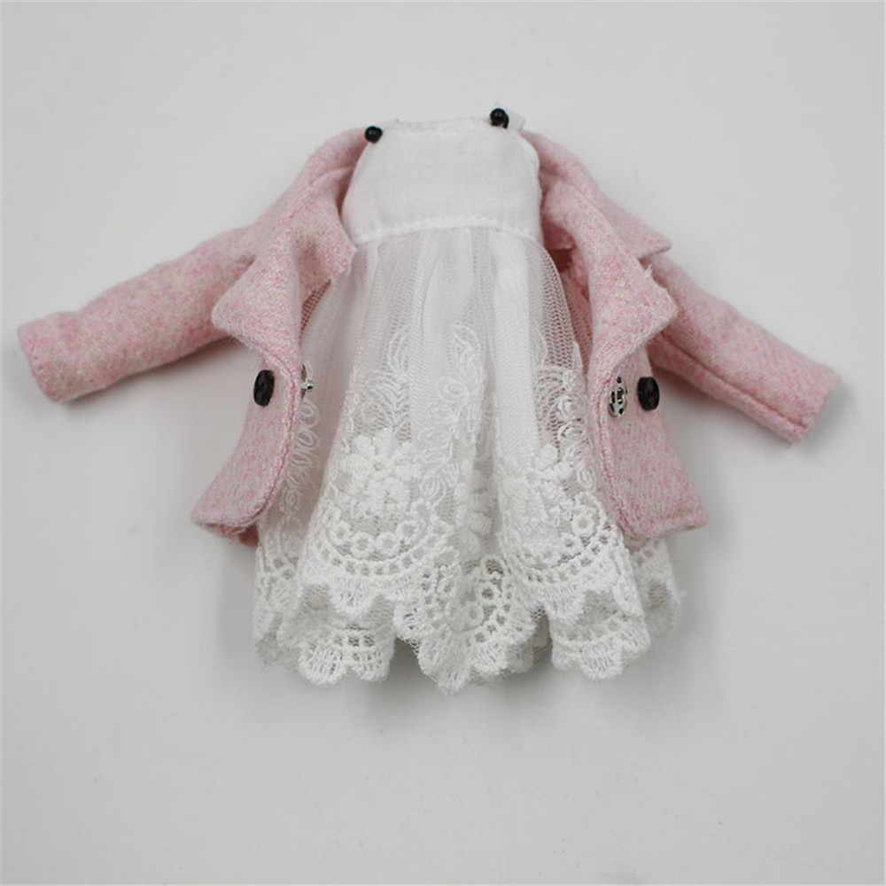 Кукла Одежда для 1/6 Blyth licca Azone ледяная кукла 2 штуки кружевное платье розовое пальто