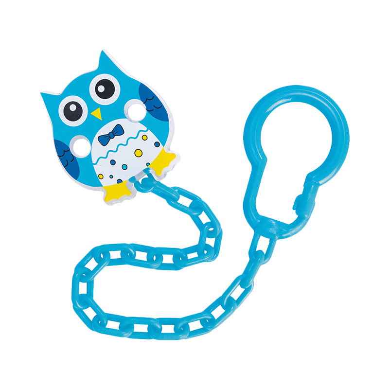 Pacifiers Leashes & Case Clip-holder for pacifiers Owl, 0+ Blue feedkid 9v battery holder case box with leads