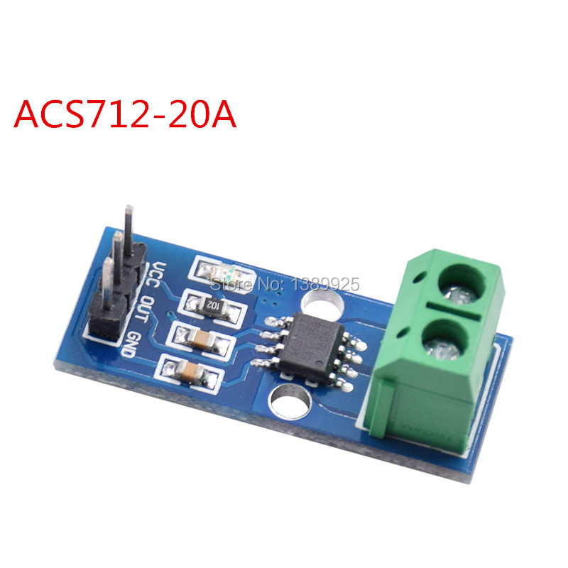 20pcs/lot Hall Current Sensor Module ACS712 20A model for ar-duino