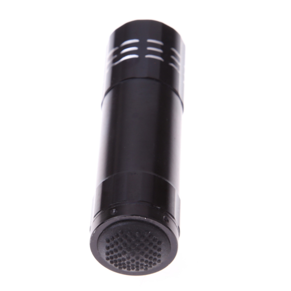 high quality 9 LED Mini Portable Powerful Black Flash Ultra Bright light Torch