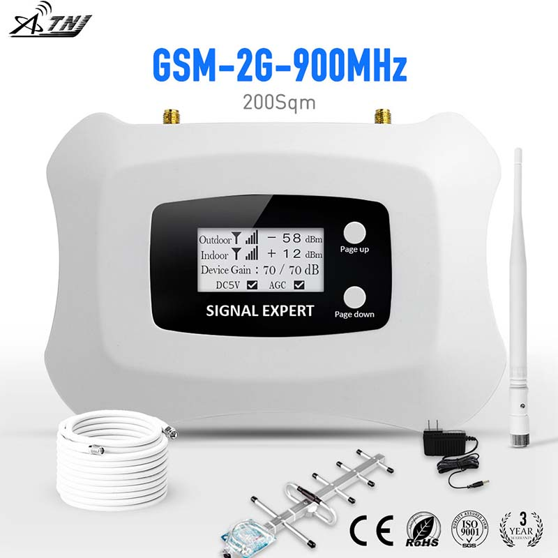 Hot Sale !!Specially For Russia GSM 2G ,900mhz Smart Mobile Signal Booster Amplifier GSM 2g Cellular Signal Booster Repeater Kit