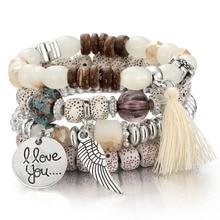 Crystal Bead Bracelets for Women Vintage Bracelet Female Jew