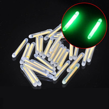 100pcs/lot Fishing Float Fluorescent Lightstick Light 3.0*25mm Night Float Rod Lights Dark Glow Stick for Fishing Accessories