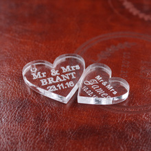 50 Pieces of Perfect Love Hearts for Wedding Decoration