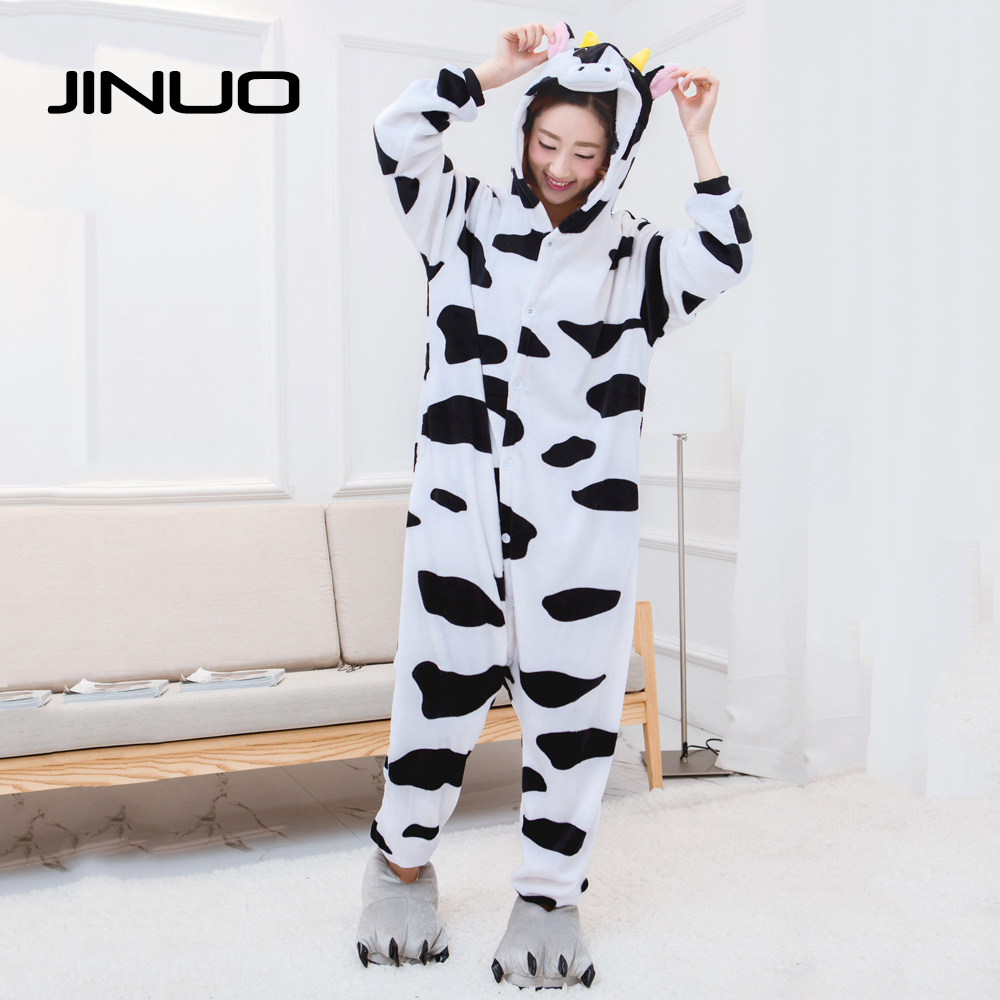 Cosplay Cows Pijamas Enteros de Animales disfraces adultos mujer Vaches pyjama funny pajamas women for adults pijama