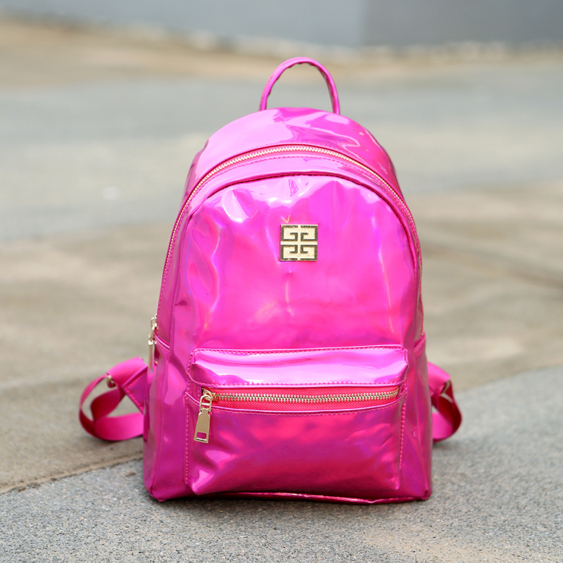 aab9dcc84 New Small Hologram Backpacks Girl School Bag Shoulder Women Rainbow  Colorful Metallic Silver Laser Holographic Bags-in Backpacks from Luggage &  Bags on ...