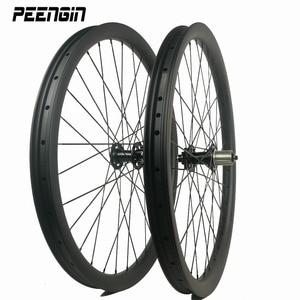 27.5 carbon wheels mtb descent 650B DH wheel sets 40mm width clincher hookless tubeless down hill treck bike inches bearing hub