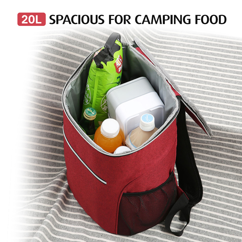 Image 4 - 20L Outdoor Insulated Bag Cooler Luch Tote Thermal Bento Bag Outdoor Camping BBQ Picnic Food Freshness Cooler Grocery Shoulder-in Picnic Bags from Sports & Entertainment