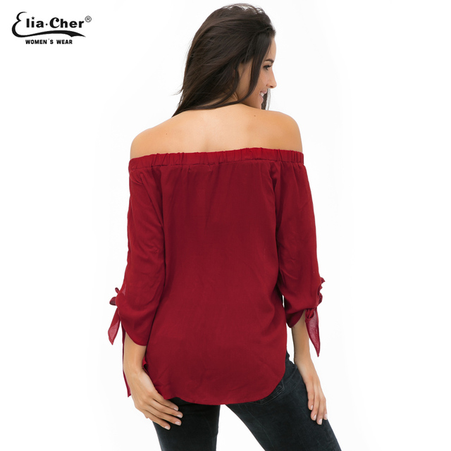 aaa- Off The Shoulder Ladies Blouse – Plus Size XXL